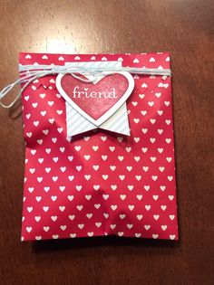 SU treat bags for valentines day. Hand cream and nail file inside. Coworker gift