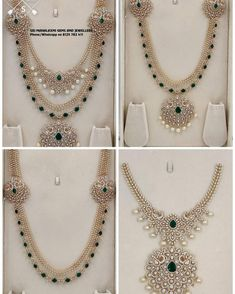These Detachable Diamond Jewellery Designs Will Blow Your Mind! • South India Jewels Indian Bridal Jewelry Sets, Indian Jewelry, Wedding Jewelry, Gold Jewelry, Diamond Jewelry, Diamond Mangalsutra, Emerald Diamond, Bridal Jewellery, Diamond Pendant