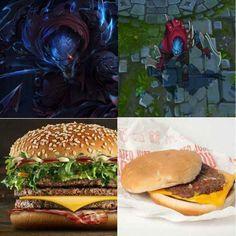 Night Hunter Rengar Splash vs πραγματικότητα, κάτι σαν το hamburger στα MCDonalds