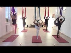 Aerial Hammock Conditioning - FULL Workout - Aerial Asana/Yoga - Lydia Michelson-Maverick - YouTube