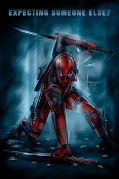 #Deadpool #Fan #Art. (Deadpool - Poster Posse tribute) By: Arocena Orlando. (THE * 5 * STÅR * ÅWARD * OF: * AW YEAH, IT'S MAJOR ÅWESOMENESS!!!™) [THANK U 4 PINNING!!!<·><]<©>ÅÅÅ+(OB4E) (LOOK!! LOOK!! HE'S GOING TO DO IT!! THEY ALL DO IT!! AHH YEAH!! SUPERHERO LANDING!!! :-)