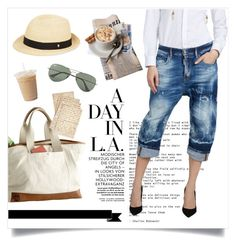 """""""High-Waisted Jeans in LA"""" by hellodollface ❤ liked on Polyvore"""