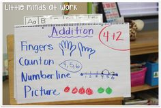 Little Minds at Work: Addition {in a kindergarten classroom}