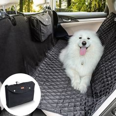 Heavy Duty Rear Seat Protector Pet Hammock Boot Trunk Liner Black /& Black 3in1