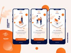 POS Indonesia Onboarding Screen by Ardias Elga Kurnia for OWW on Dribbble Flat Web Design, Design Ios, Interface Design, User Interface, Graphic Design, Ui Kit, Onboarding App, Ui Design Mobile, Application Mobile