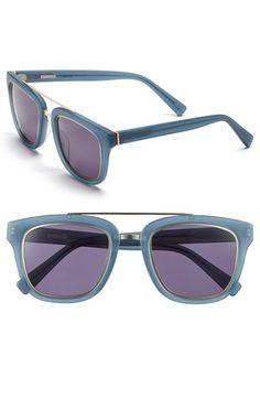 Women's Derek Lam 'Prince' 50mm Aviator Sunglasses - Matte Blue Crystal
