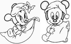 Amazing Drawings, Art Drawings Sketches Simple, Doodle Drawings, Cute Drawings, Princess Coloring Pages, Disney Coloring Pages, Mickey E Minie, Mickey Mouse, Baby Disney