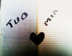 #parole su carta Mia-tuo