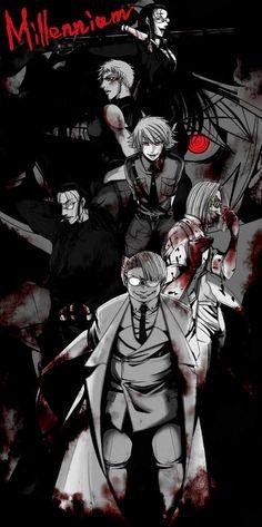 Millennium by ShadowLuhi on DeviantArt Hellsing Alucard, Abraham Van Helsing, Seras Victoria, Rip Van Winkle, Good Anime Series, The Blues Brothers, Cool Animations, Angel Of Death, Photos