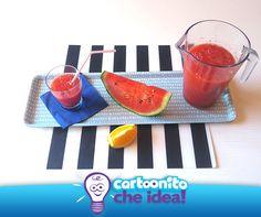 SUCCO D'ANGURIA: UNA BEVANDA FRESCA, COLORATA E DISSETANTE!   #CartoonitoCheIdea #kids #bambini #ricette #frutta #succo #juice #healthy