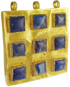 Hollow Pendant with lapis Lazuli inlays.Persian 500 BC.