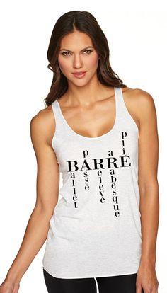 Barre Shirt. Barre Clothing. Barre Tank Top. Gym Shirt. Barre Racerback.  - Next Level Hustle -