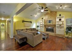 This Manchaca, #Texas #home has a great living room