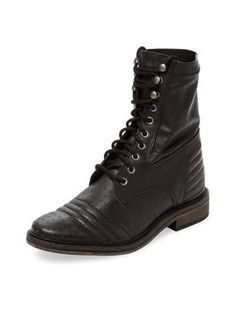 Sounder Lace-Up Low Heel Boot from Fall's Best Booties on Gilt