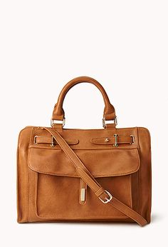 Structured Faux Leather Tote | FOREVER21 - 1031558197