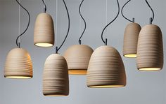 Stoneware Lights by Adam Cornish