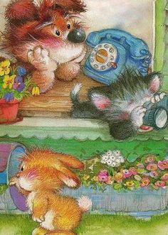 New vintage girl illustration martin omalley ideas Martin O'malley, Decoupage, Cute Animal Illustration, Animal Illustrations, Vintage Wedding Flowers, Spanish Artists, Cartoon Pics, Vintage Girls, Vintage Christmas