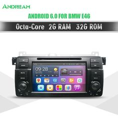 Octa Core 32G ROM 2G RAM Android 6.0 Car DVD For BMW E46 car multimedia android Radio Stereo Navigation Bluetooth WIFI EW801P8QH