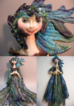 "elaborate art dolls | Lady of the Lake, 26"" cloth doll on-line, on-demand class"