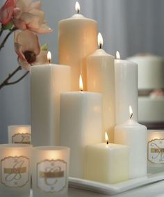 Different Size and Shape Pillar Candles