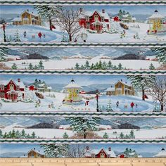 Winter's Eve Repeating Stripe Multi from @fabricdotcom  Designed by John Sloane for Wilmington Prints, this cotton print fabric is perfect for quilting, apparel and home decor accents. Colors include black, brown, red, blue, beige, green, orange, yellow and white.