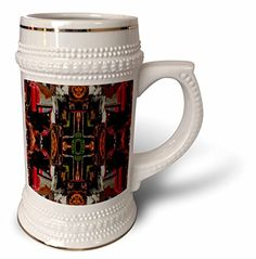 Jos Fauxtographee Abstract - An old rusted, colorful tractor mirrored - 22oz Stein Mug (stn_39817_1) 3dRose http://www.amazon.com/dp/B0147LF6OC/ref=cm_sw_r_pi_dp_L.n7vb16F6MEW