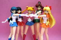 sailor_moon sailor_mars artemis luna bandai sailor_venus sailor_mercury s. Sailor Jupiter, Sailor Venus, Sailor Moon Art, Sailor Moon Crystal, Sailor Mars, Sailor Moon Collectibles, Sailor Moon Merchandise, Sailor Moon Wallpaper, Anime Figurines