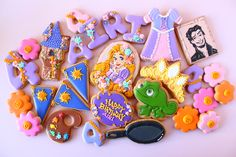 Rapunzel cookies Tangled cookies