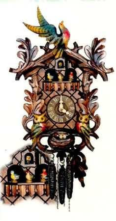 Forest Cuckoo Clocks Cheddar Gorge Flying Bird Painted Black Forest Cuckoo Clock