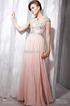 Wholesale Cheap2012 Sexy Evening Dresses V Neck Cap Sleeves Chiffon Sequins Beaded Prom Dresses sDf, Free shipping, $112.0-125.44/Piece   DHgate