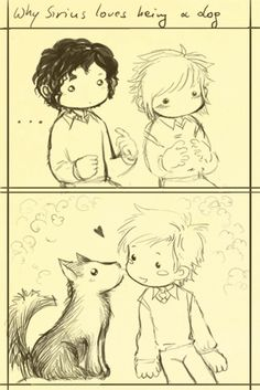 Sketch - Sirius loves being... by Sirilu on DeviantArt