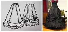 Make your own Victorian-style taffeta skirt with this hand-illustrated pattern from the Gothic Lolita community. via Crafty Crafty.