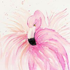 "FLAMINGO  by Monika Strigel Art Print / MINI (8"" x 8"") $19.00"