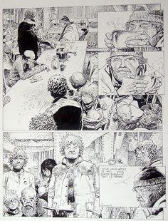 Hermann - Pagina Oost-Indische inkt - Verhaal de kooi gepubliceerd in Lugubere verhalen - 1982 -W.B.