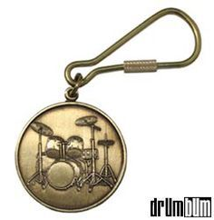 If you need drummer gifts, check out this elegant Brass Drumset Keychain from drumbum.com