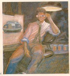 Adrian Pujol, auto-visión a través de otros ojos, 1983 Painting, Venezuela, Portraits, Historia, Artists, Painting Art, Paintings, Painted Canvas, Drawings