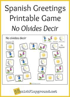 Children practice basic phrases with this printable Spanish greetings game. Spanish Vocabulary Games, Spanish Worksheets, Vocabulary Practice, Spanish Activities, Spanish Language Learning, Vocabulary Activities, Teaching Spanish, Worksheets For Kids, Learning Activities