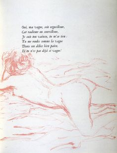 Pierre Bonnard, Illustration for Paul Verlaine's book of poems Pierre Bonnard, Liane Foly, Francois Feldman, Badass Drawings, Book Of Poems, Images And Words, Vintage Artwork, French Artists, French Nails