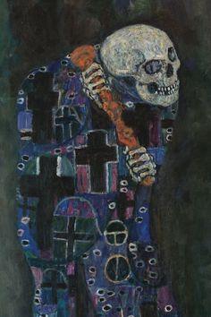 Gustav Klimt - Secession & Art Nouveau - Death and Life (detail) Gustav Klimt, Design Poster, Art Design, Klimt Tattoo, Art Nouveau, Death Tattoo, Tumblr, Dark Art, Japanese Art