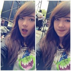 """""""I'm at Siam Square now, waiting for my sound check :)//Jannina"""" so cute :O"""