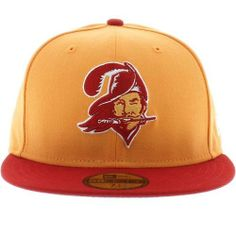 NFL Tampa Bay Buccaneers Historic Logo 59Fifty Fitted Cap by New Era. $25.99. Show Your Team Spirit with This National Football League 59Fifty Historic Basic Fitted Cap. Features An Embroidered (Raised) Classic Team Logo At Front, A Stitched New Era Flag At Wearer'S Left Side, and A Classic Team Logo At Back. Interior Includes Branded Taping and A Moisture Absorbing Sweatband. Fitted, Closed Back.