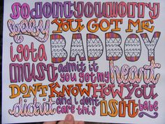 The Way Lyric Drawing by TaylorandEmilysEtsy on Etsy, $5.00