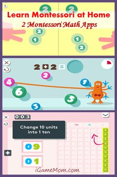 Montessori at Home - two Montessori Math Apps that will make learning math fun #kidsapps #MathApps