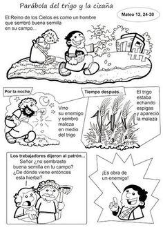 El Rincon De Las Melli HISTORIETA Parabola Del Trigo Y La Cizana