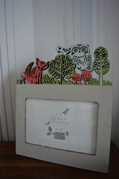 Gisela Graham Wooden Fretwork Forest Friends Photo Frame