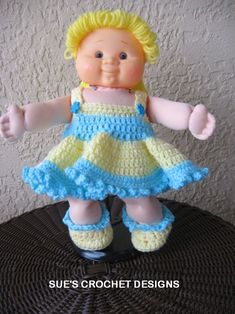Josephine is ready to be yours she is a 15 inch crocheted doll with sues crochet designs american girl doll cabbage patch dolls afghans gifts dt1010fo