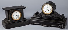 Two Victorian slate mantel clocks for sale at auction on 24th May | Bidsquare Chester County, Clocks For Sale, Mantel Clocks, Old Stone, Slate, Decorative Accessories, Art Decor, Auction, Victorian