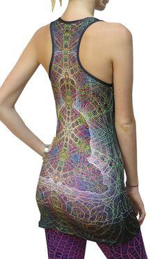 8371233e5906 Sublime Tank Girl   Rainbow Buddha The Space Tribe racerback mini-dress    long vest