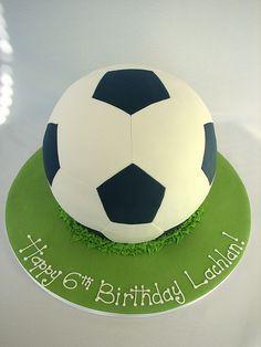 Soccer ball cake..increible!
