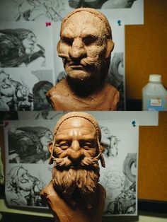 Top tips for beginner clay sculptors. Sculpture by Glauco Longhi Human Sculpture, Sculpture Clay, Slab Pottery, Thrown Pottery, Pottery Vase, Ceramic Pottery, Pottery Wheel, Polymer Clay Sculptures, Ceramic Sculptures